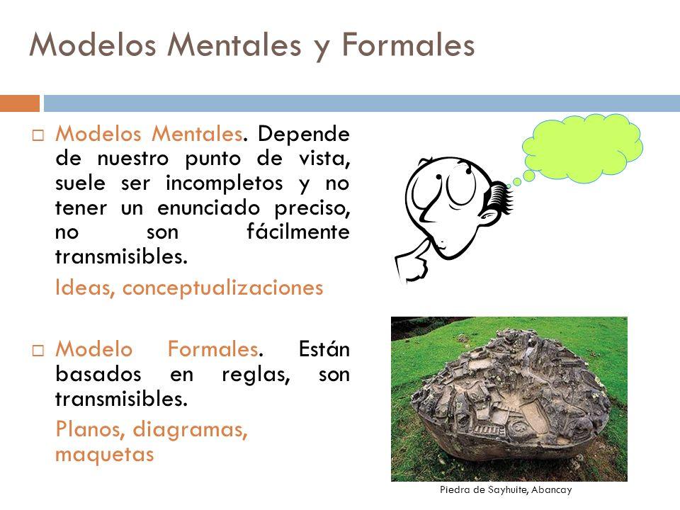 Modelos Mentales y Formales Modelos Mentales. Depende de nuestro punto de vista, suele ser incompletos y no tener un enunciado preciso, no son fácilme