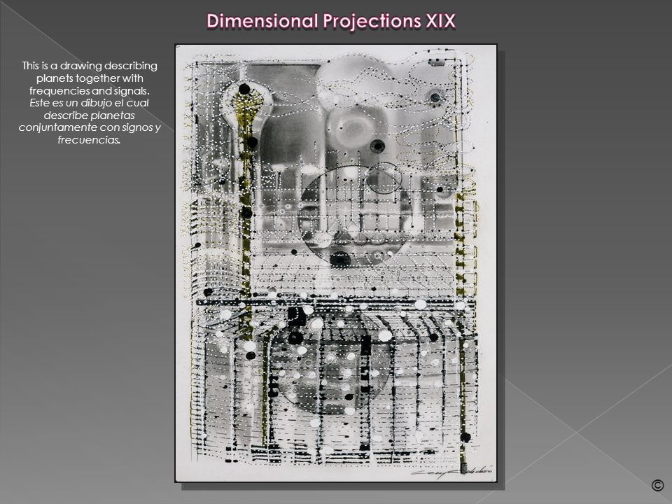 Dimensional Projections XL These are two drawings that appear to describe energetic anthropomorphic entities of a different nature Estos son dos dibujos que parecen describir entidades energeticas antropomorfas de diferente naturaleza