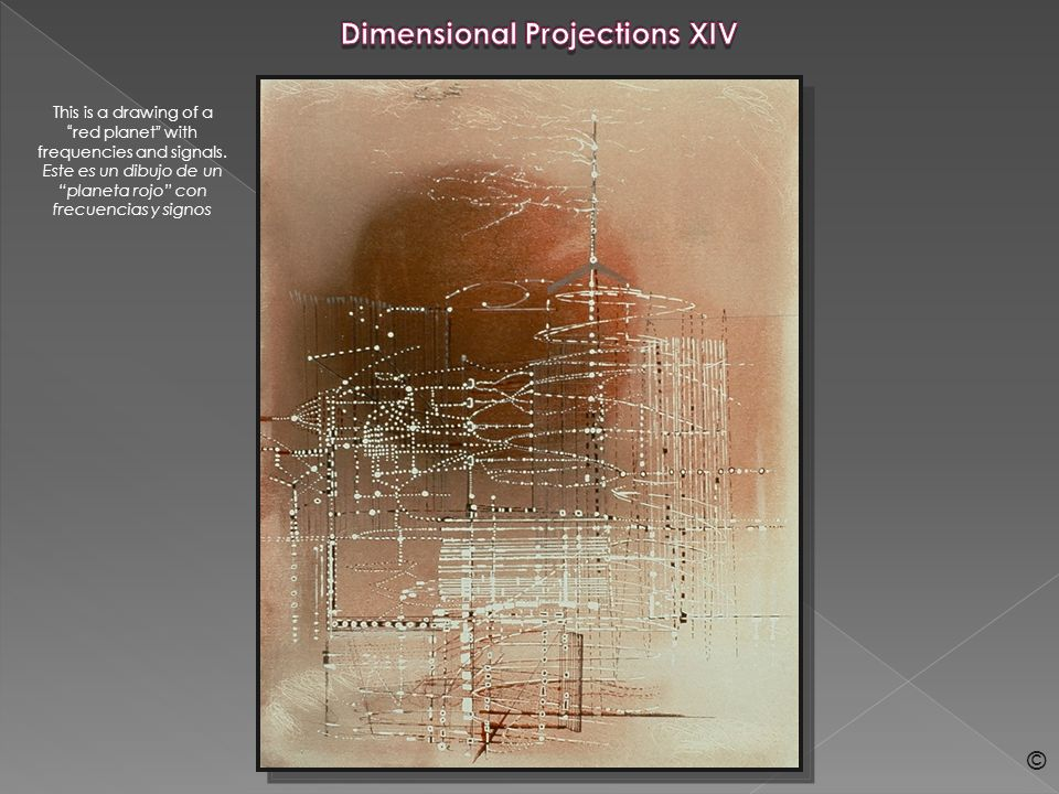 Dimensional Projections XLVI This drawing is the last image of the Dimensional Projections series.