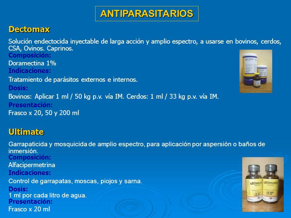 14 Dectomax Solución endectocida inyectable de larga acción y amplio espectro, a usarse en bovinos, cerdos, CSA, Ovinos.