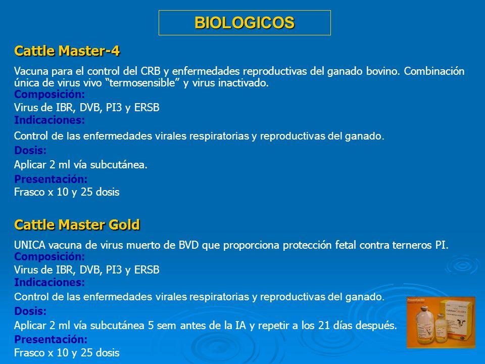 16 Cattle Master-4 Vacuna para el control del CRB y enfermedades reproductivas del ganado bovino. Combinación única de virus vivo termosensible y viru