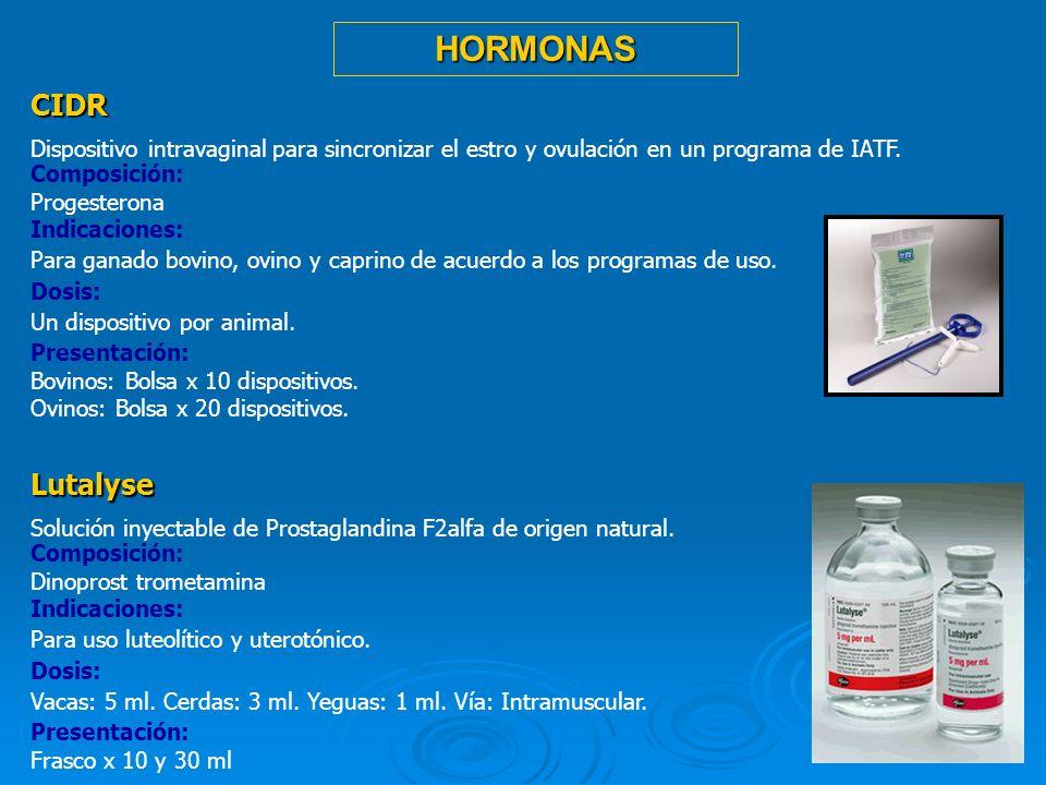 19 CIDR Dispositivo intravaginal para sincronizar el estro y ovulación en un programa de IATF. Composición: Progesterona Indicaciones: Para ganado bov