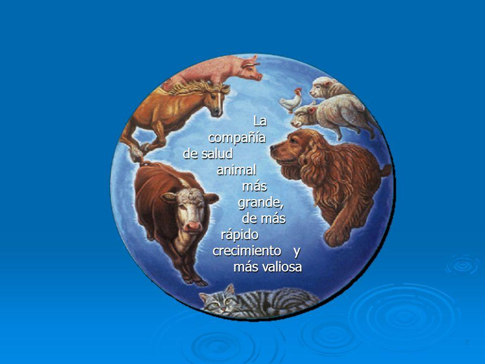 2 La compañía compañía de salud de salud animal animal más más grande, grande, de más de más rápido rápido crecimiento y crecimiento y más valiosa más