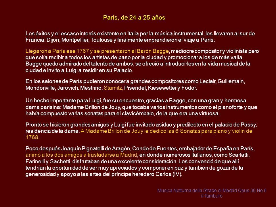 Lucca, 22 y 23 años En Lucca los mayores éxitos musicales se daban en la música vocal con Lucchesi, Papia, Soffi, y Tomeoni, entre otros. Esto empujo