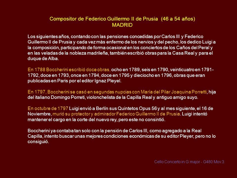 Orquesta de la Condesa de Benavente (43 a 46 años) ALAMEDA DE OSUNA En marzo de 1786, Luigi es nombrado director de la orquesta de María Josefa de la
