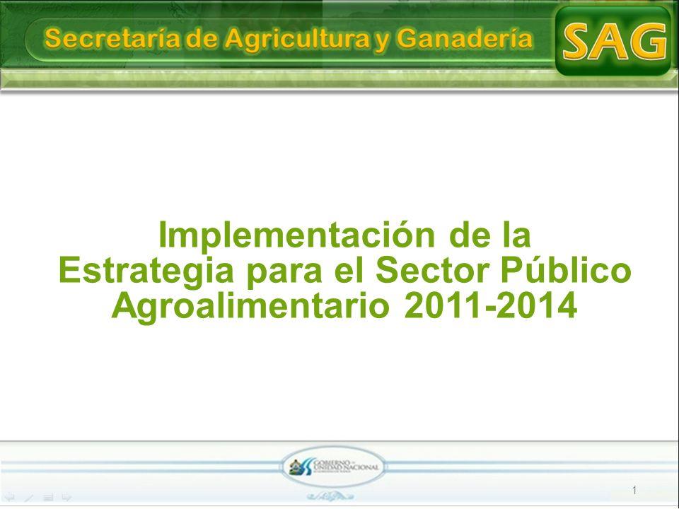 1 Implementación de la Estrategia para el Sector Público Agroalimentario 2011-2014