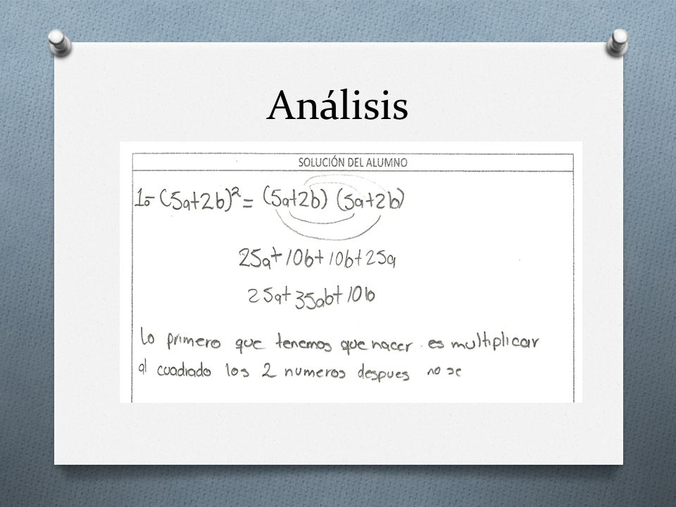 Resultados ERROR IDENTIFICADO 1Concepto multiplicar al cuadrado.