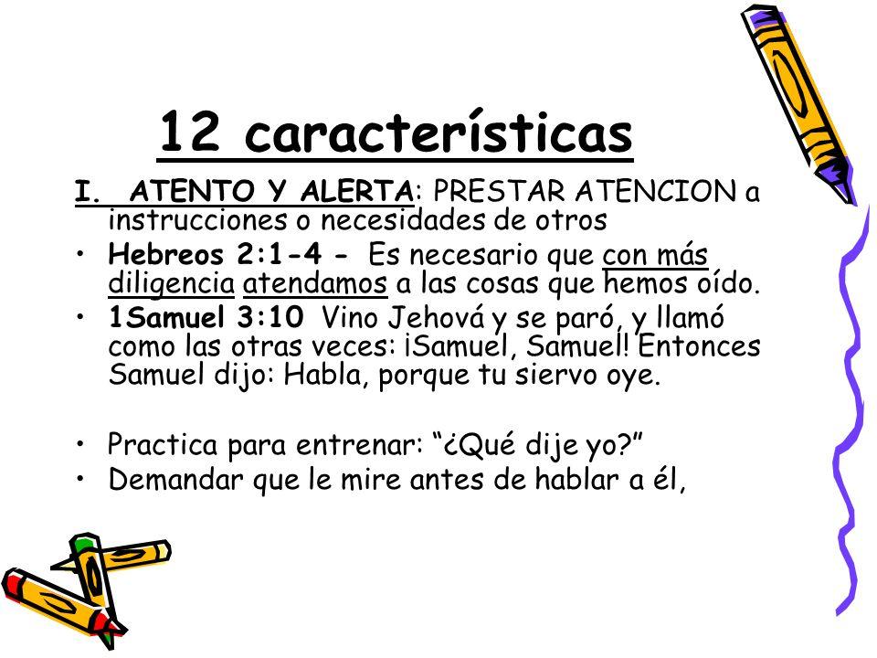 12 características I.
