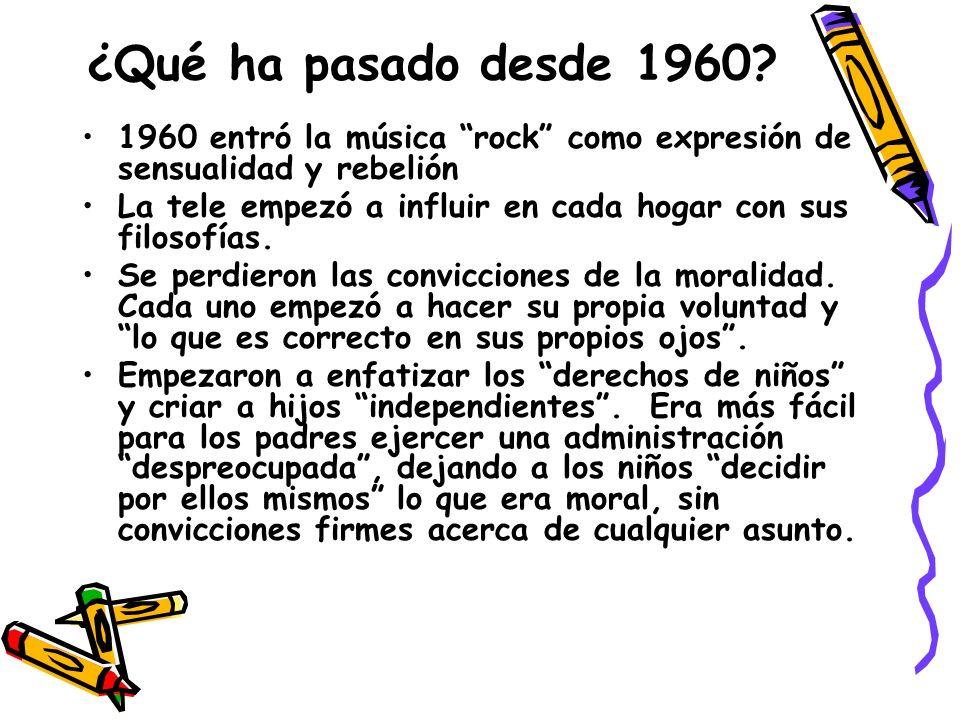 ¿Qué ha pasado desde 1960.