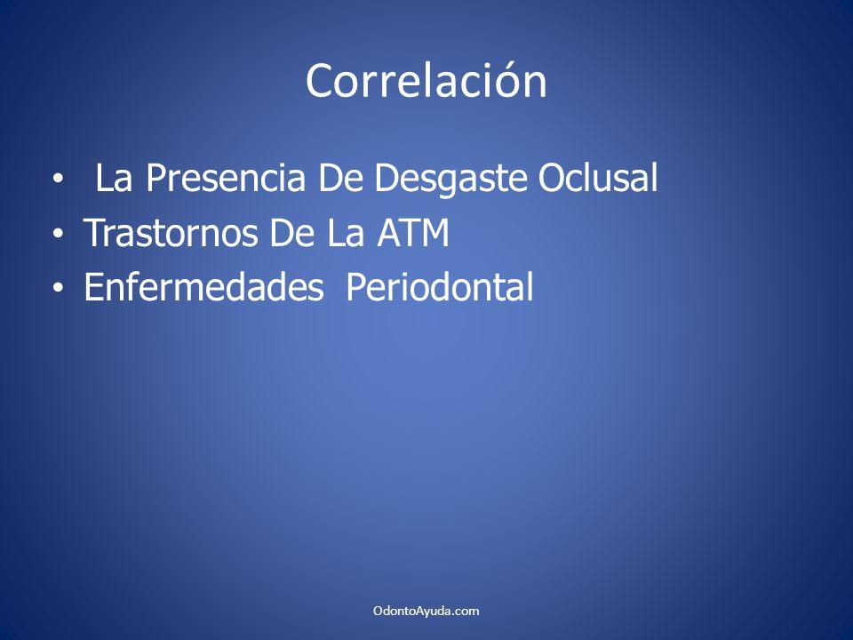 Correlación La Presencia De Desgaste Oclusal Trastornos De La ATM Enfermedades Periodontal OdontoAyuda.com