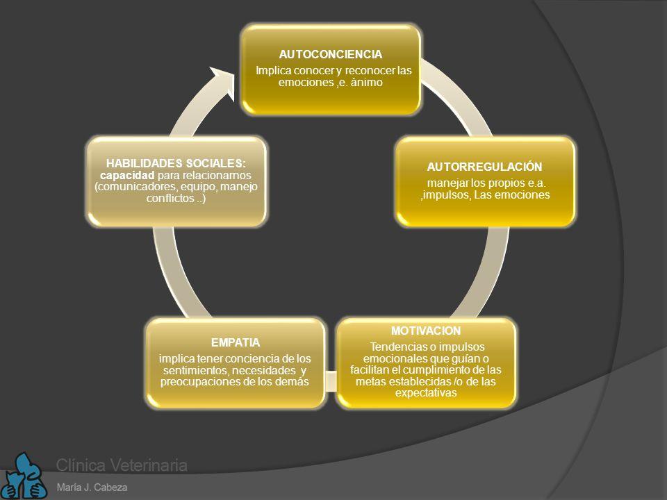La IE aplicada: La IE es una forma de interactuar con el mundo y tiene muy en cuenta los sentimientos y engloba habilidades como : Control de impulsos Autoconciencia Motivación Entusiasmo Empatía ….ellos configuran rasgos de carácter autodisciplinar..indispensables para una buena adaptación social.