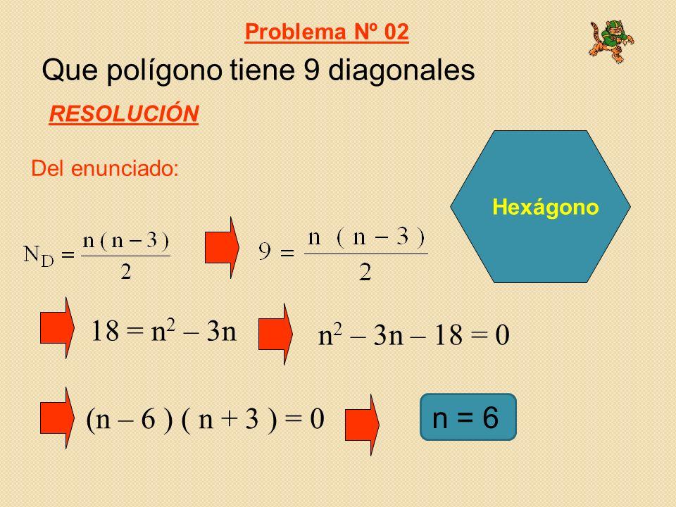 Halla el ángulo interno del polígono regular cuyo ángulo central es 45º Problema Nº 03 RESOLUCIÓN