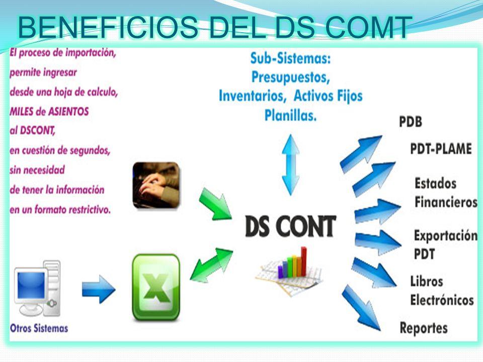 El Sistema Contable Ds Cont, es el programa para contabilidad más completo del mercado, permite llevar la contabilidad de organizaciones comerciales, industriales, gubernamentales, de servicios y otros.