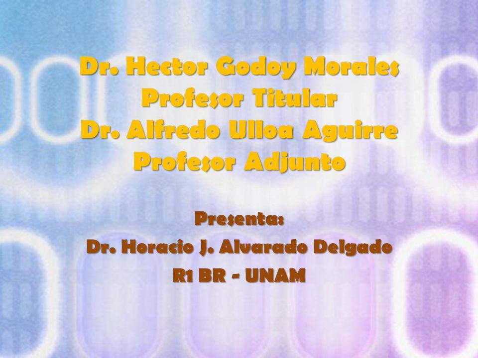 Dr. Hector Godoy Morales Profesor Titular Dr. Alfredo Ulloa Aguirre Profesor Adjunto Presenta: Dr. Horacio J. Alvarado Delgado R1 BR - UNAM