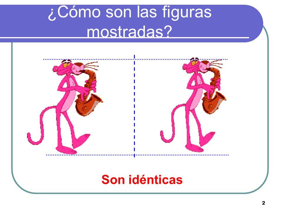 ¿Cómo son las figuras mostradas? 2 Son idénticas