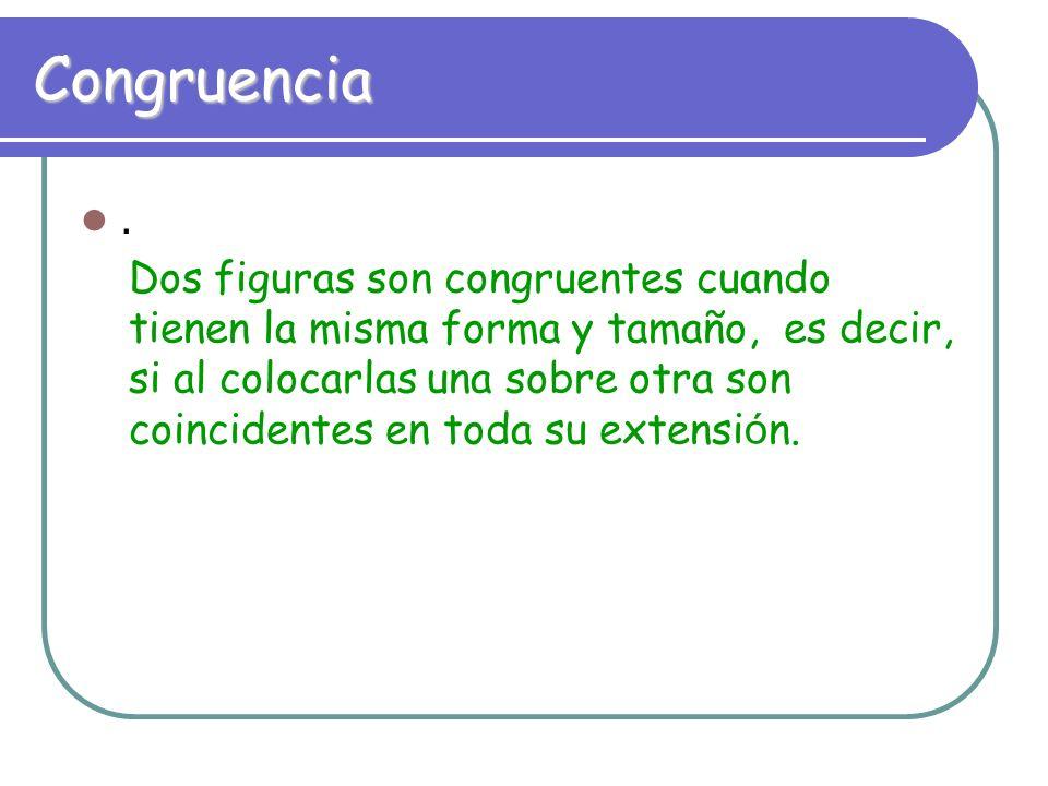 Congruencia.