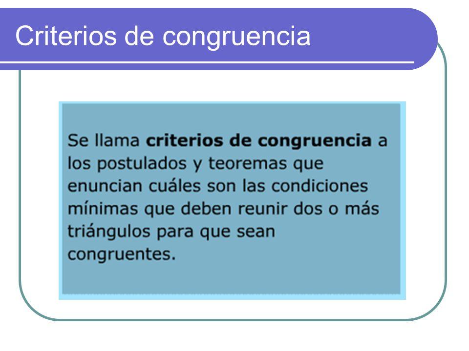 Congruencia. Dos figuras son congruentes cuando tienen la misma forma y tamaño, es decir, si al colocarlas una sobre otra son coincidentes en toda su