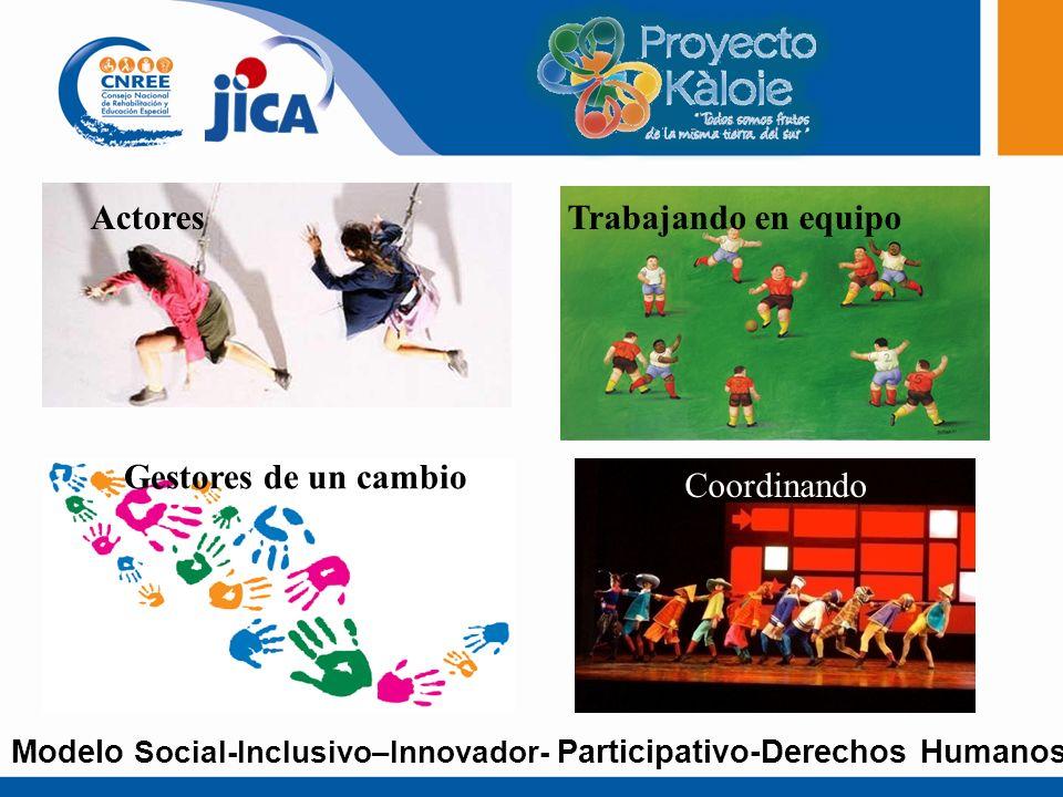 Por las necesidades de las comunidades Abajo para arriba y Arriba para abajo Promueve la participación activa de todos los actores sociales Incluir la