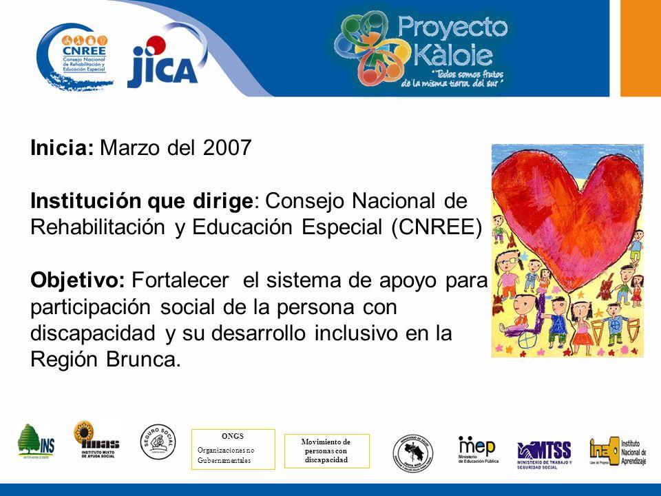 Extensión: 9.528,44 Km. 6 Cantones Población: 299.366 habitantes Cantidad de personas con discapacidad: 17.808 Fuente: INEC, 2000 COSTA RICA