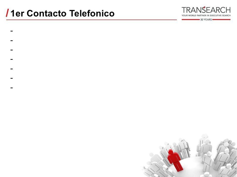 1er Contacto Telefonico --------------