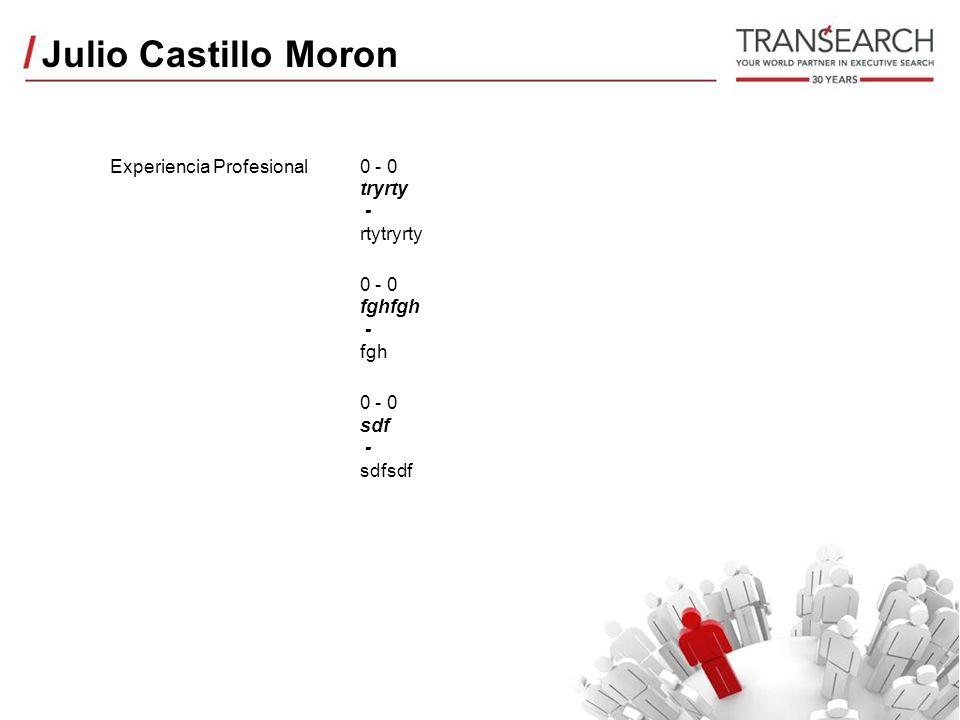 Julio Castillo Moron Experiencia Profesional2011 - 2008 BCP Lima - Peru Analista de creditos