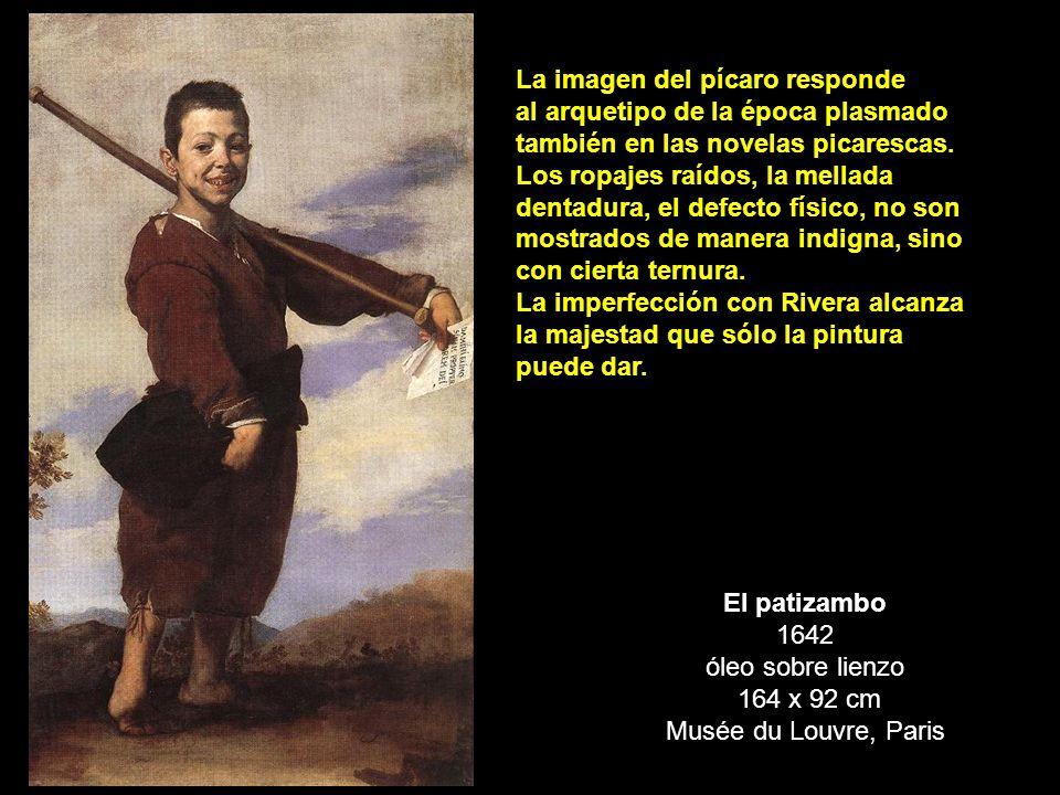 El patizambo 1642 óleo sobre lienzo 164 x 92 cm Musée du Louvre, Paris La imagen del pícaro responde al arquetipo de la época plasmado también en las