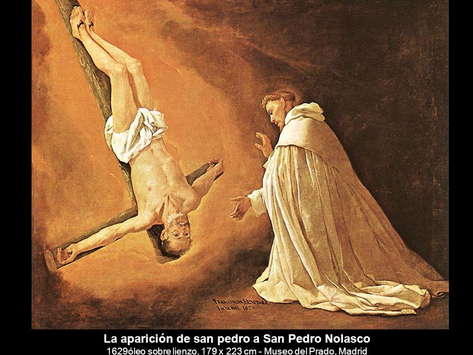 La aparición de san pedro a San Pedro Nolasco 1629óleo sobre lienzo, 179 x 223 cm - Museo del Prado, Madrid