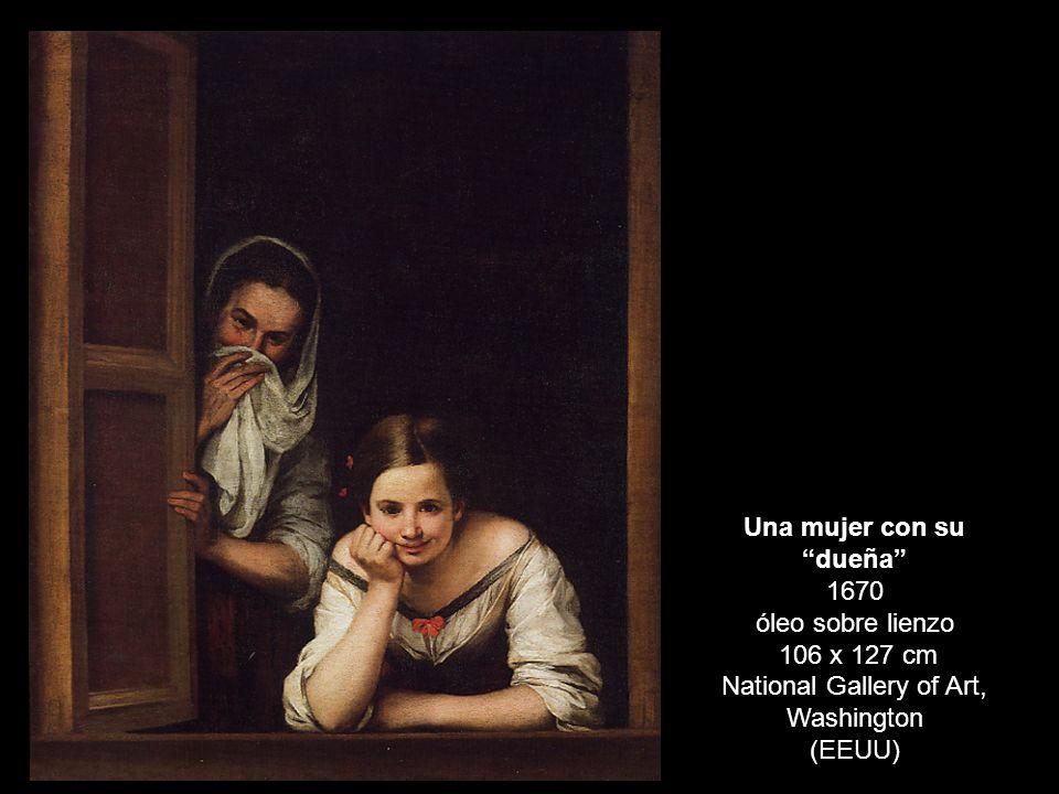 DOS MUJERES EN LA VENTANA Una mujer con su dueña 1670 óleo sobre lienzo 106 x 127 cm National Gallery of Art, Washington (EEUU)
