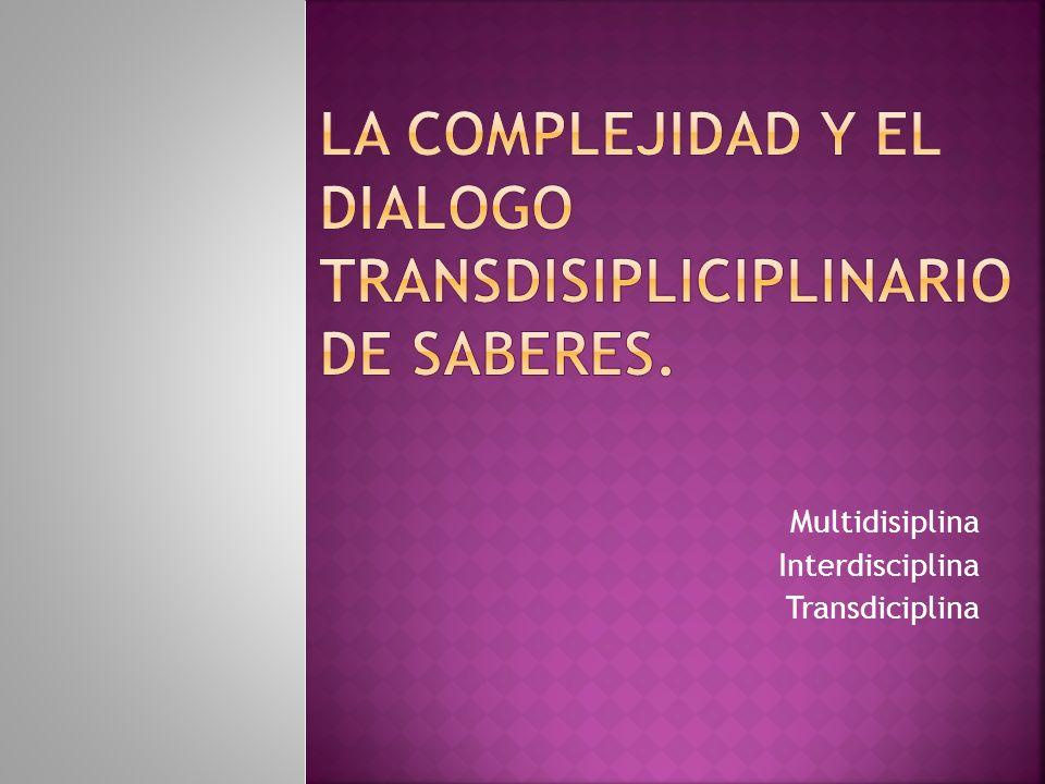 Multidisiplina Interdisciplina Transdiciplina