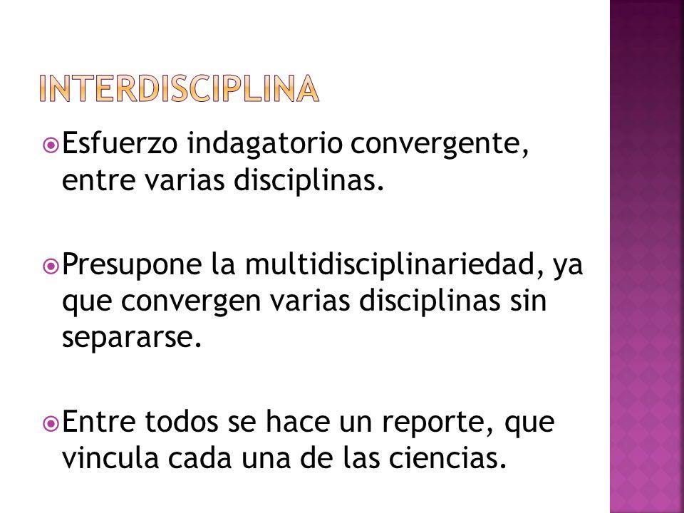 Esfuerzo indagatorio que persigue obtener Cuotas de saber análogas sobre diferentes objetos de estudio disciplinario, multidisciplinario o interdisciplinario.