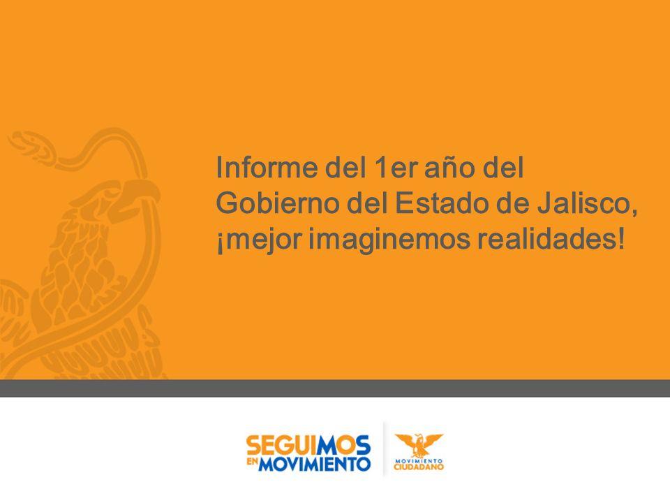 Informe del 1er año del Gobierno del Estado de Jalisco, ¡mejor imaginemos realidades!