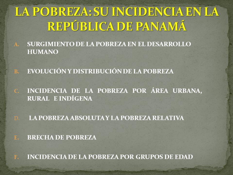 A.SURGIMIENTO DE LA POBREZA EN EL DESARROLLO HUMANO B.