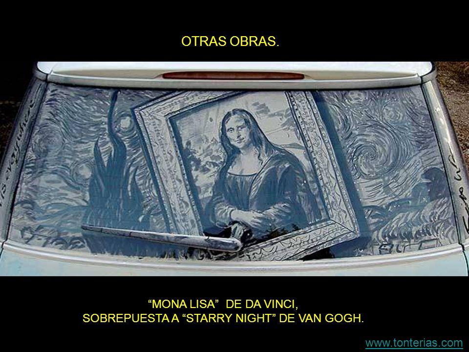 OTRAS OBRAS. MONA LISA DE DA VINCI, SOBREPUESTA A STARRY NIGHT DE VAN GOGH. www.tonterias.com