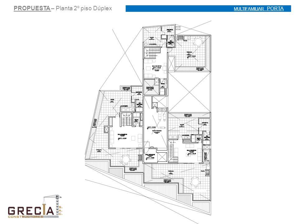 PROPUESTA – Planta 2º piso Dúplex MULTIFAMILIAR PORTA