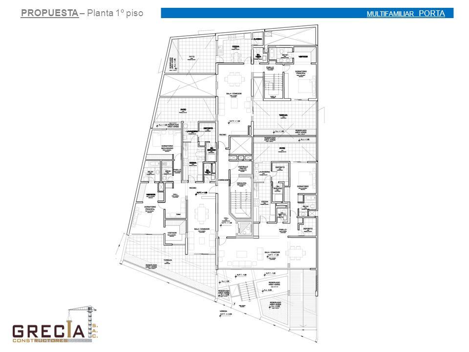 PROPUESTA – Planta 1º piso MULTIFAMILIAR PORTA