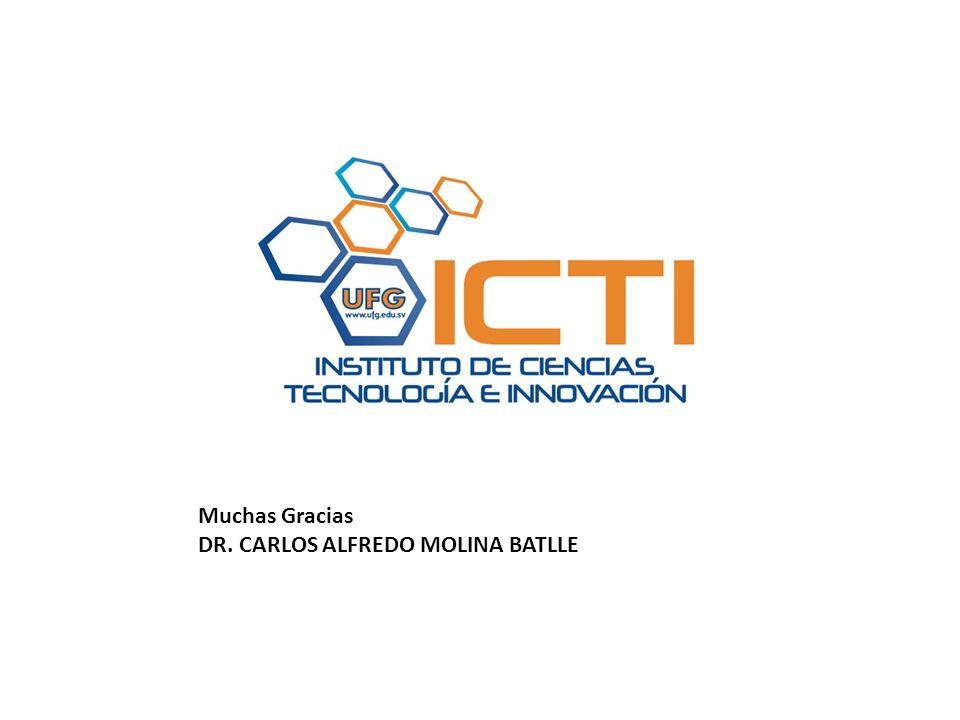 Muchas Gracias DR. CARLOS ALFREDO MOLINA BATLLE