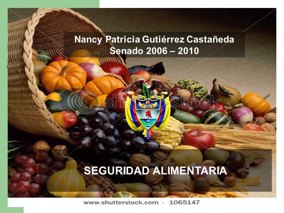 Nancy Patricia Gutiérrez Castañeda Senado 2006 - 2010 Nancy Patricia Gutiérrez Castañeda Senado 2006 – 2010 SEGURIDAD ALIMENTARIA