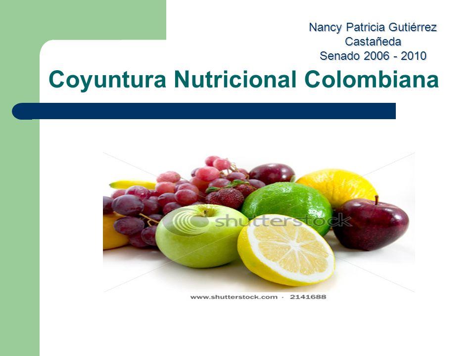 Nancy Patricia Gutiérrez Castañeda Senado 2006 - 2010 Coyuntura Nutricional Colombiana