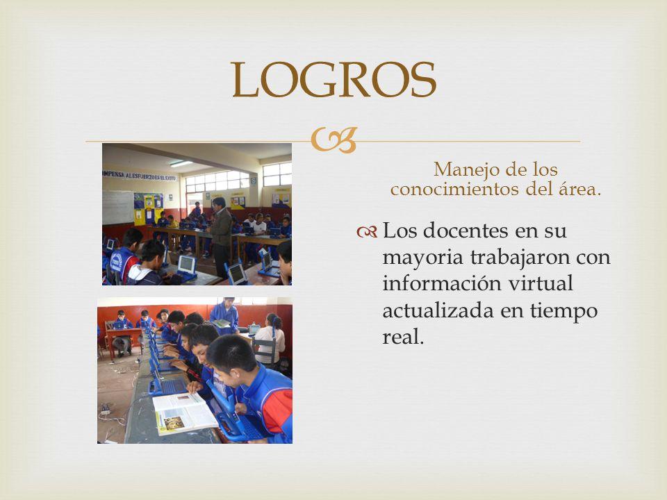 LOGROS Diseño y conducción de los procesos de aprendizajes.