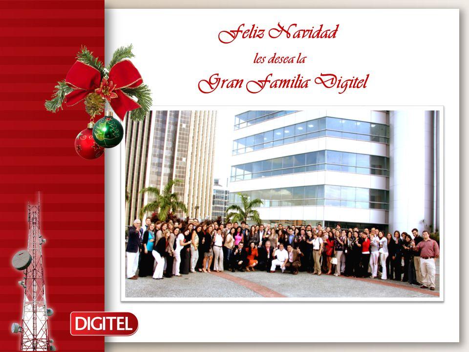 Feliz Navidad les desea la Gran Familia Digitel
