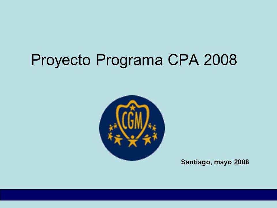 Proyecto Programa CPA 2008 Santiago, mayo 2008