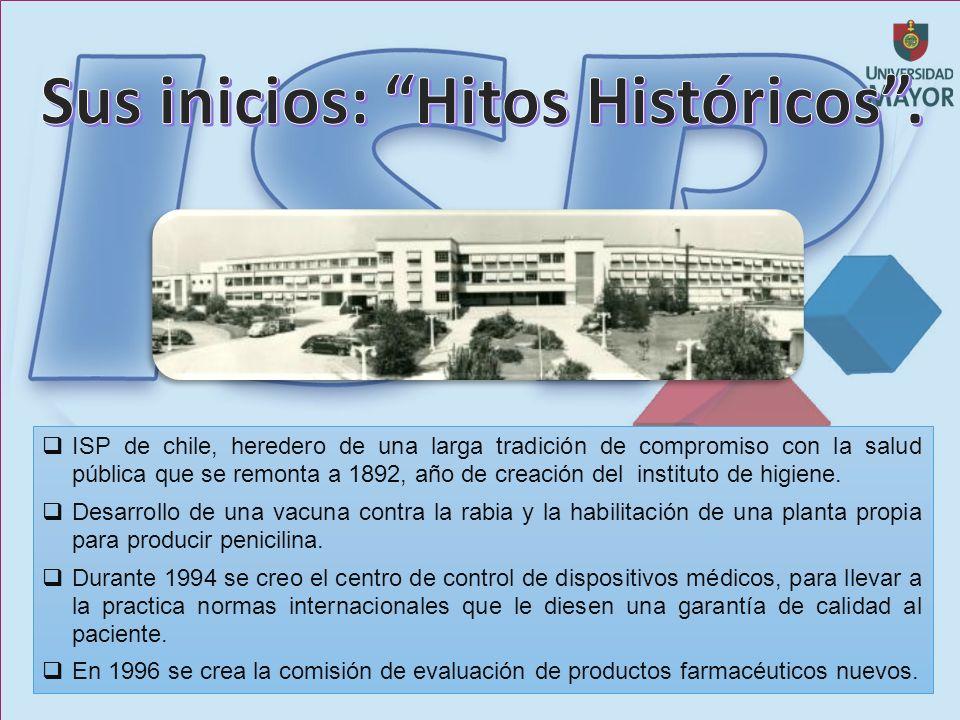 ISP de chile, heredero de una larga tradición de compromiso con la salud pública que se remonta a 1892, año de creación del instituto de higiene.