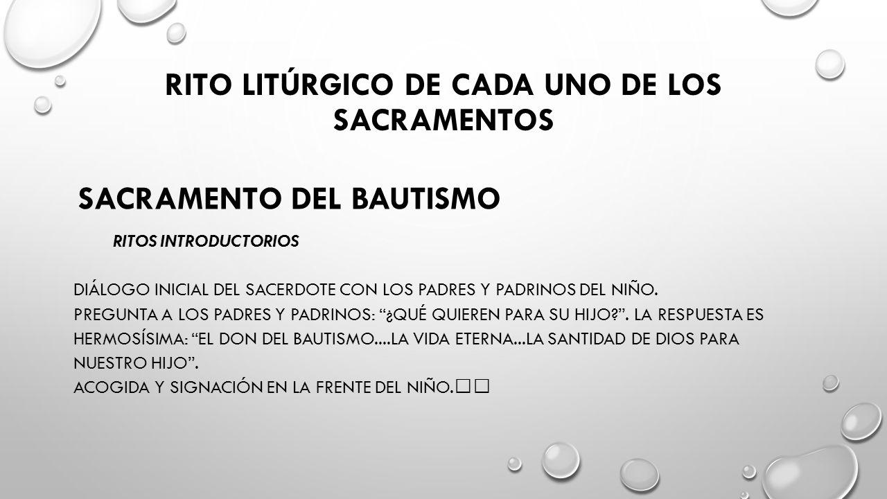 SACRAMENTO DEL BAUTISMO LITURGIA DE LA PALABRA LECTURAS.