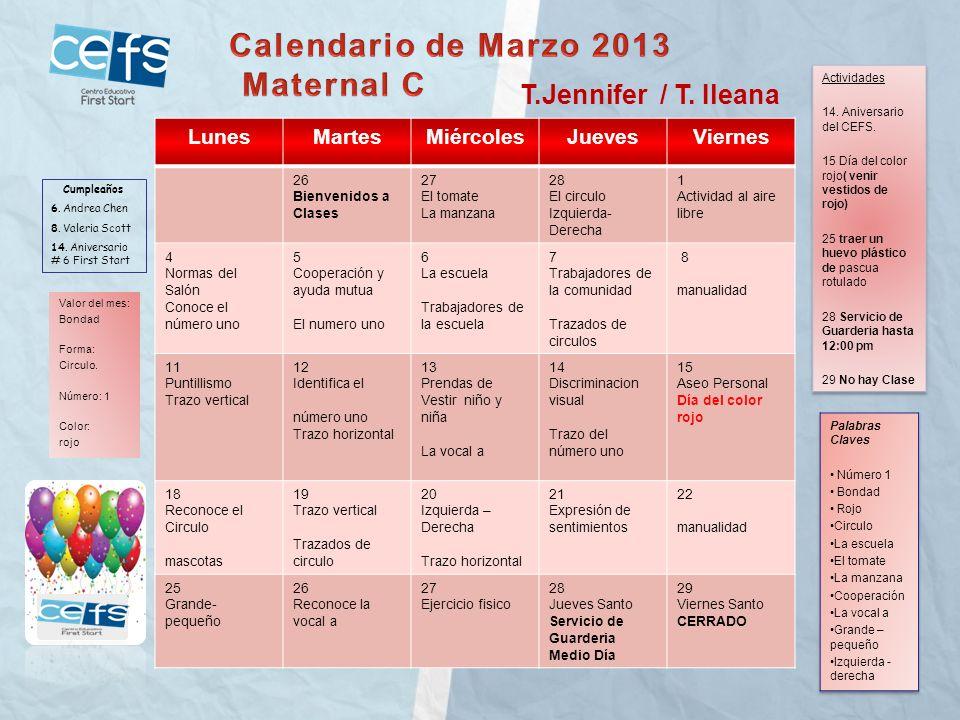 LunesMartesMiércolesJuevesViernes 27-Bienvenida28- Conoce el circulo y comparte con tus compañeros.