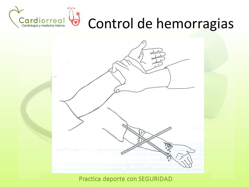 Practica deporte con SEGURIDAD Control de hemorragias