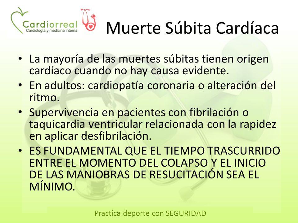 Practica deporte con SEGURIDAD Secuencia de resucitación cardiopulmonar 2 30 5 cm 100 spm