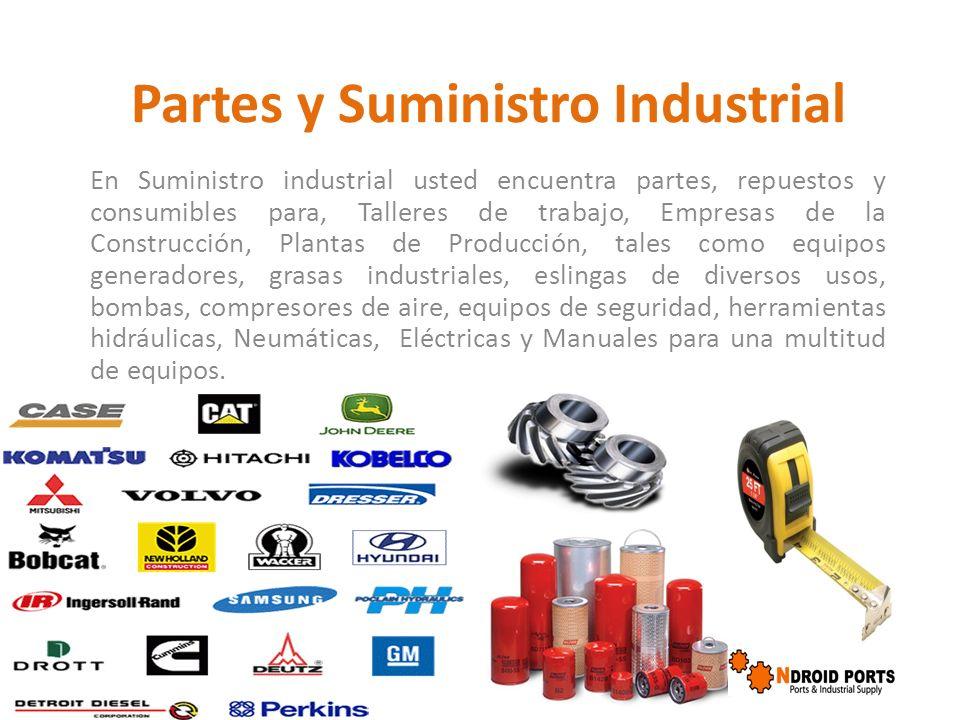 Partes y Suministro Industrial En Suministro industrial usted encuentra partes, repuestos y consumibles para, Talleres de trabajo, Empresas de la Cons