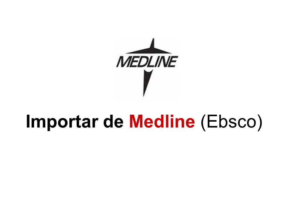 Importar de Medline (Ebsco)