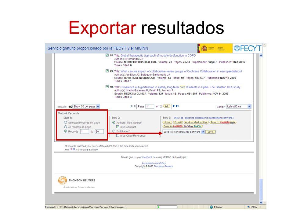 Exportar resultados