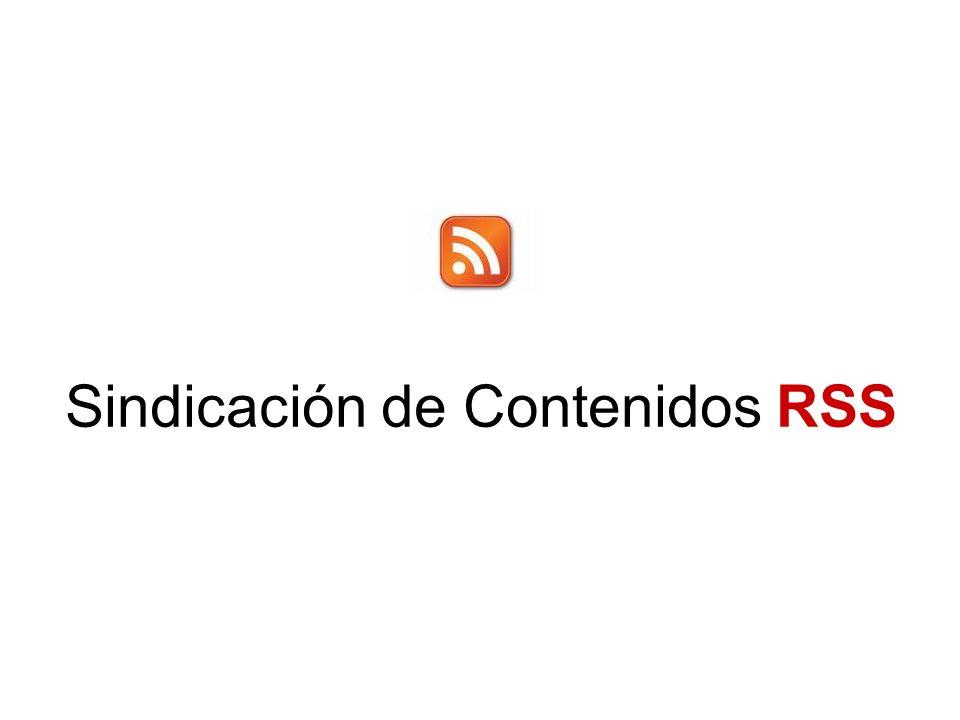 Sindicación de Contenidos RSS